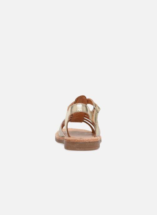 Sandales et nu-pieds Babybotte Ylona Or et bronze vue droite