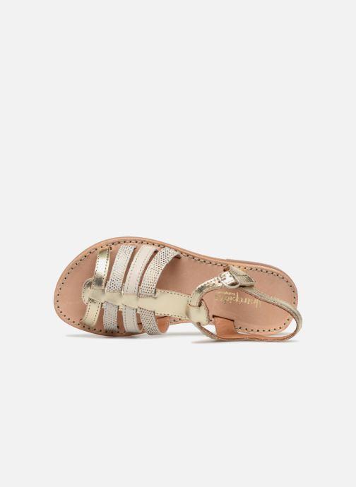 Sandales et nu-pieds Babybotte Ylona Or et bronze vue gauche