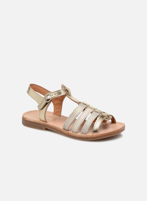 Sandales et nu-pieds Babybotte Ylona Or et bronze vue détail/paire