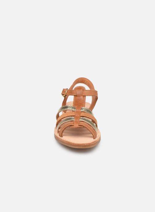 Sandales et nu-pieds Babybotte Ylona Marron vue portées chaussures