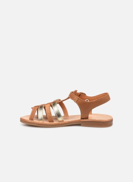 Sandales et nu-pieds Babybotte Ylona Marron vue face
