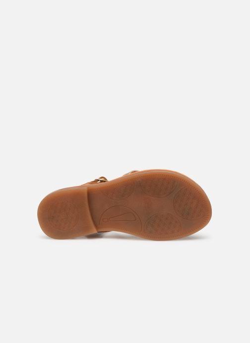 Sandales et nu-pieds Babybotte Ylona Marron vue haut
