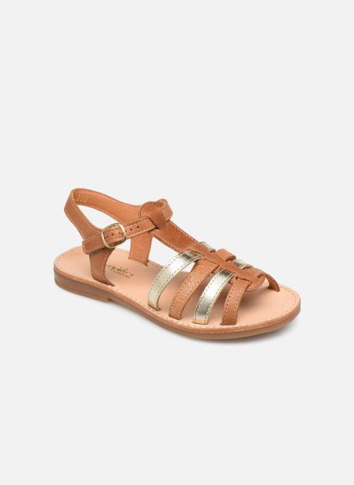 Sandales et nu-pieds Babybotte Ylona Marron vue détail/paire