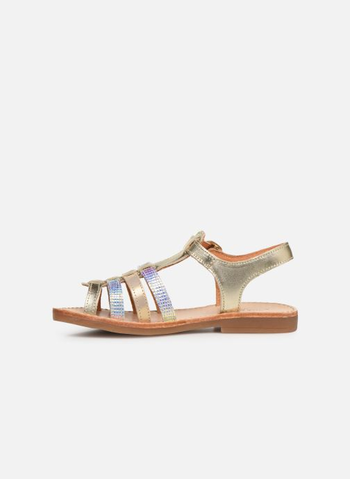 Sandals Babybotte Ylona Bronze and Gold front view