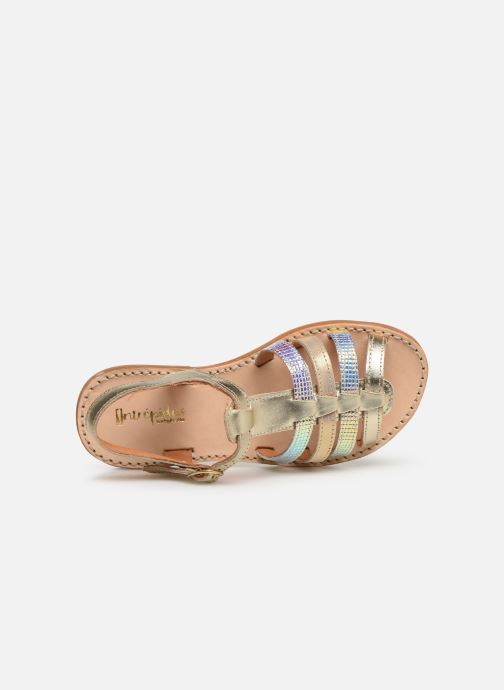Sandals Babybotte Ylona Bronze and Gold view from the left