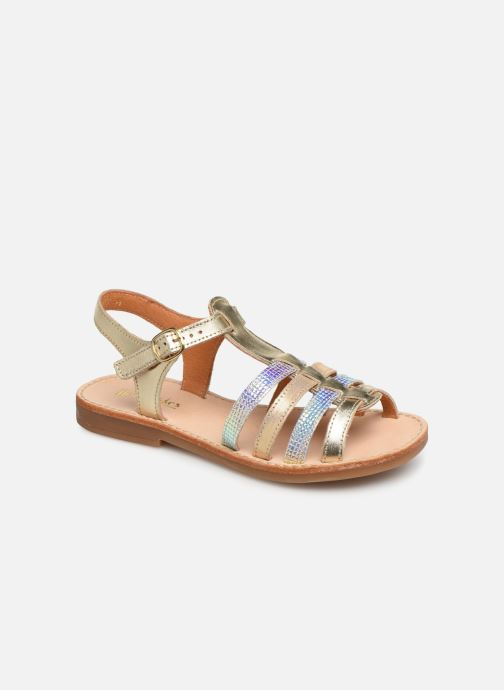 Sandals Babybotte Ylona Bronze and Gold detailed view/ Pair view