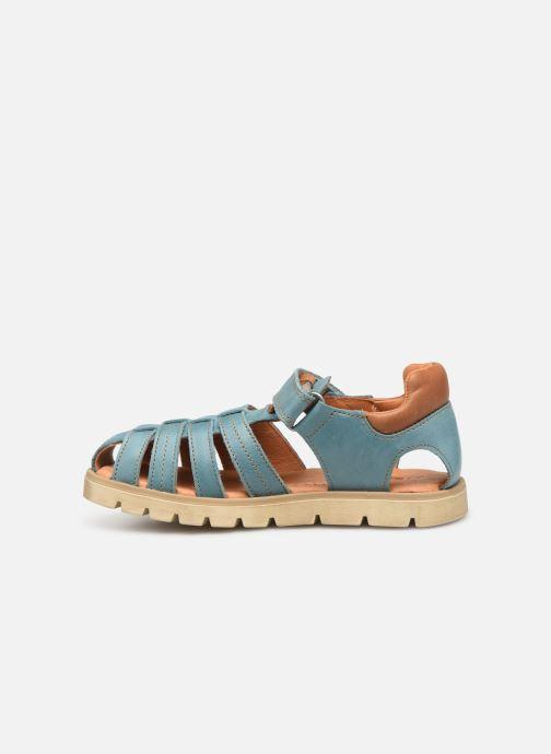 Sandals Babybotte Keko Blue front view