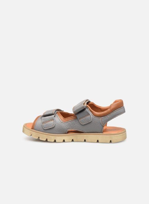 Sandales et nu-pieds Babybotte Krumble Gris vue face