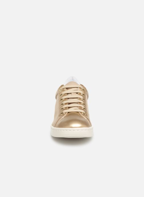 Baskets Geox D JAYSEN A D821BA Or et bronze vue portées chaussures