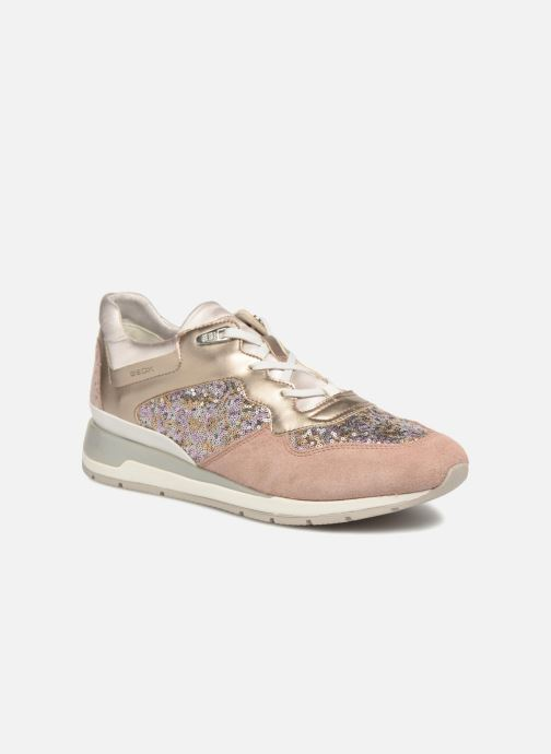 Sneakers Geox D SHAHIRA B-1 D62N1B Guld og bronze detaljeret billede af skoene