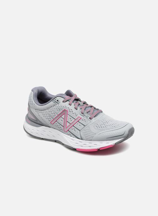 Chaussures de sport New Balance W680L Gris vue détail/paire