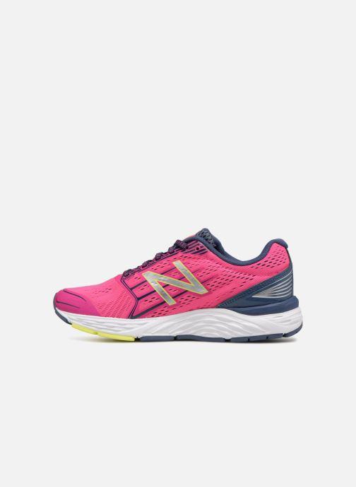 Chaussures de sport New Balance W680L Rose vue face