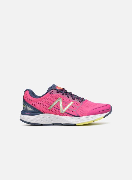 Chaussures de sport New Balance W680L Rose vue derrière