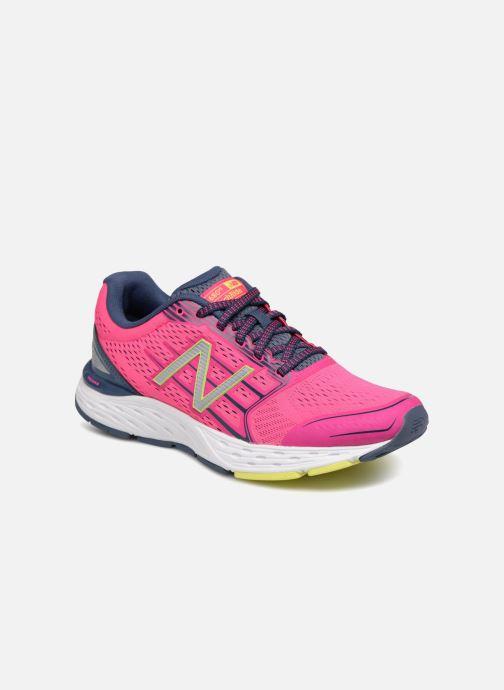 Chaussures de sport New Balance W680L Rose vue détail/paire
