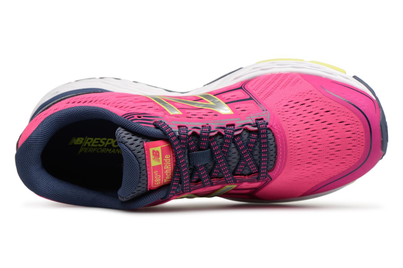 Chaussures de sport New Balance W680L Rose vue gauche