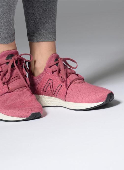 Sport shoes New Balance WCRUZ PE18 Pink view from underneath / model view