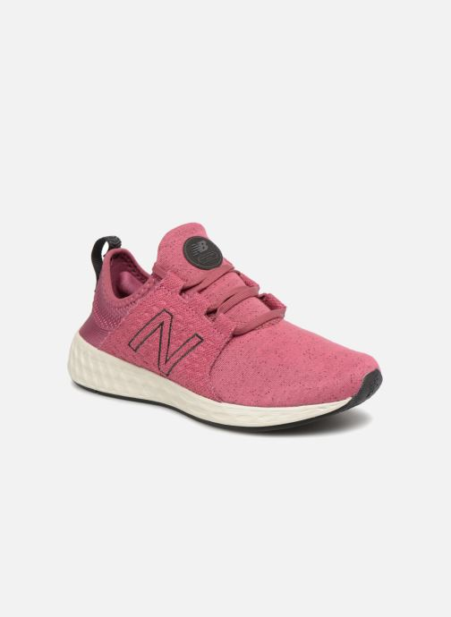 Sport shoes New Balance WCRUZ PE18 Pink detailed view/ Pair view