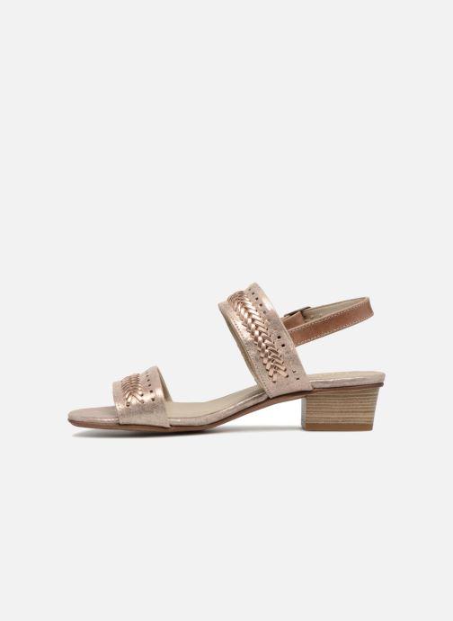 Sandales et nu-pieds Dorking Lovi 7533 Or et bronze vue face