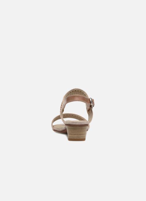 Sandales et nu-pieds Dorking Lovi 7533 Or et bronze vue droite