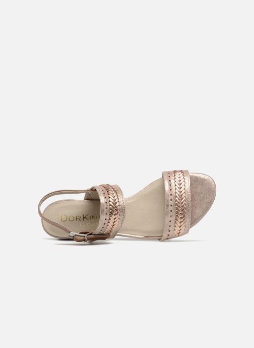 Sandales et nu-pieds Dorking Lovi 7533 Or et bronze vue gauche