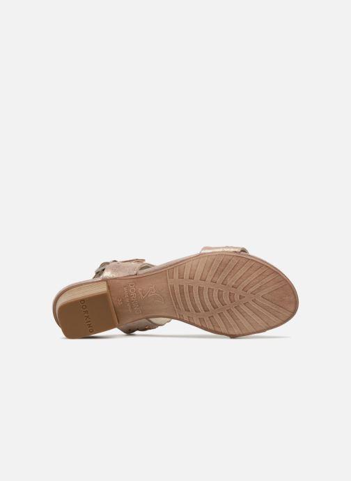 Sandales et nu-pieds Dorking Lovi 7533 Or et bronze vue haut