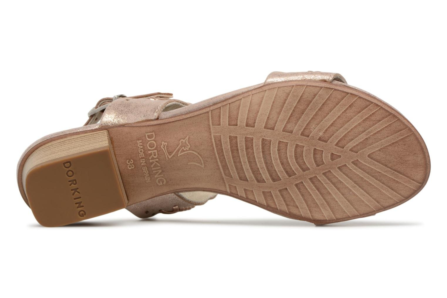 Sandals Dorking Lovi 7533 Bronze and Gold view from above