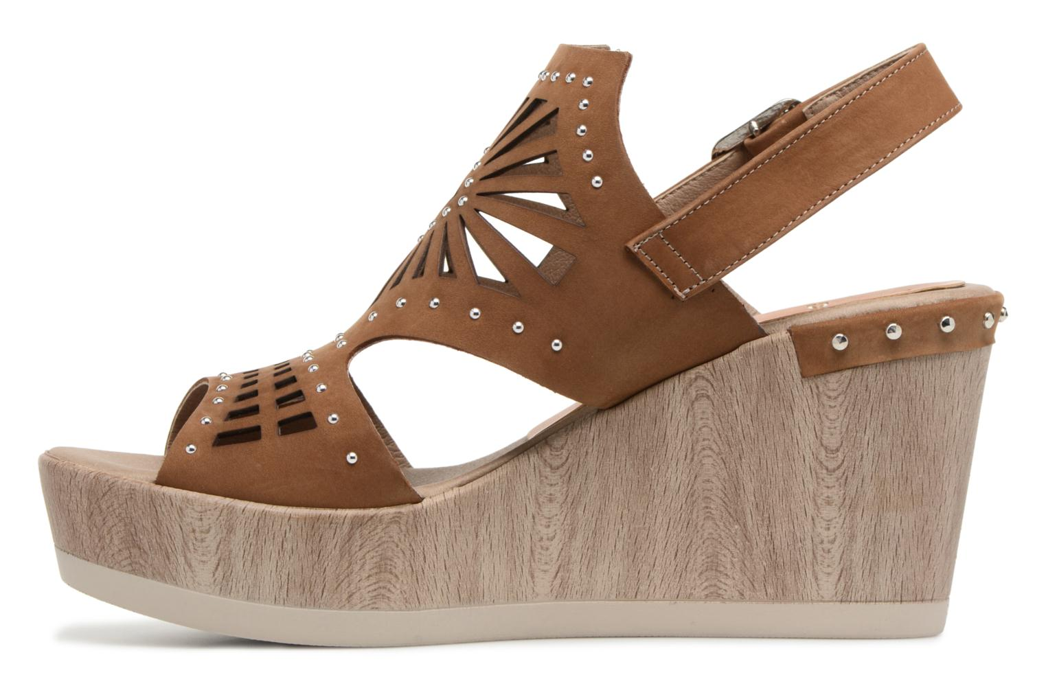 Sandals Dorking Salma 7487 Brown front view