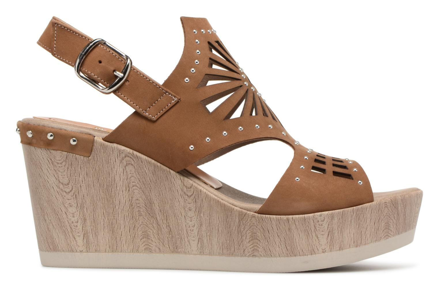 Sandals Dorking Salma 7487 Brown back view