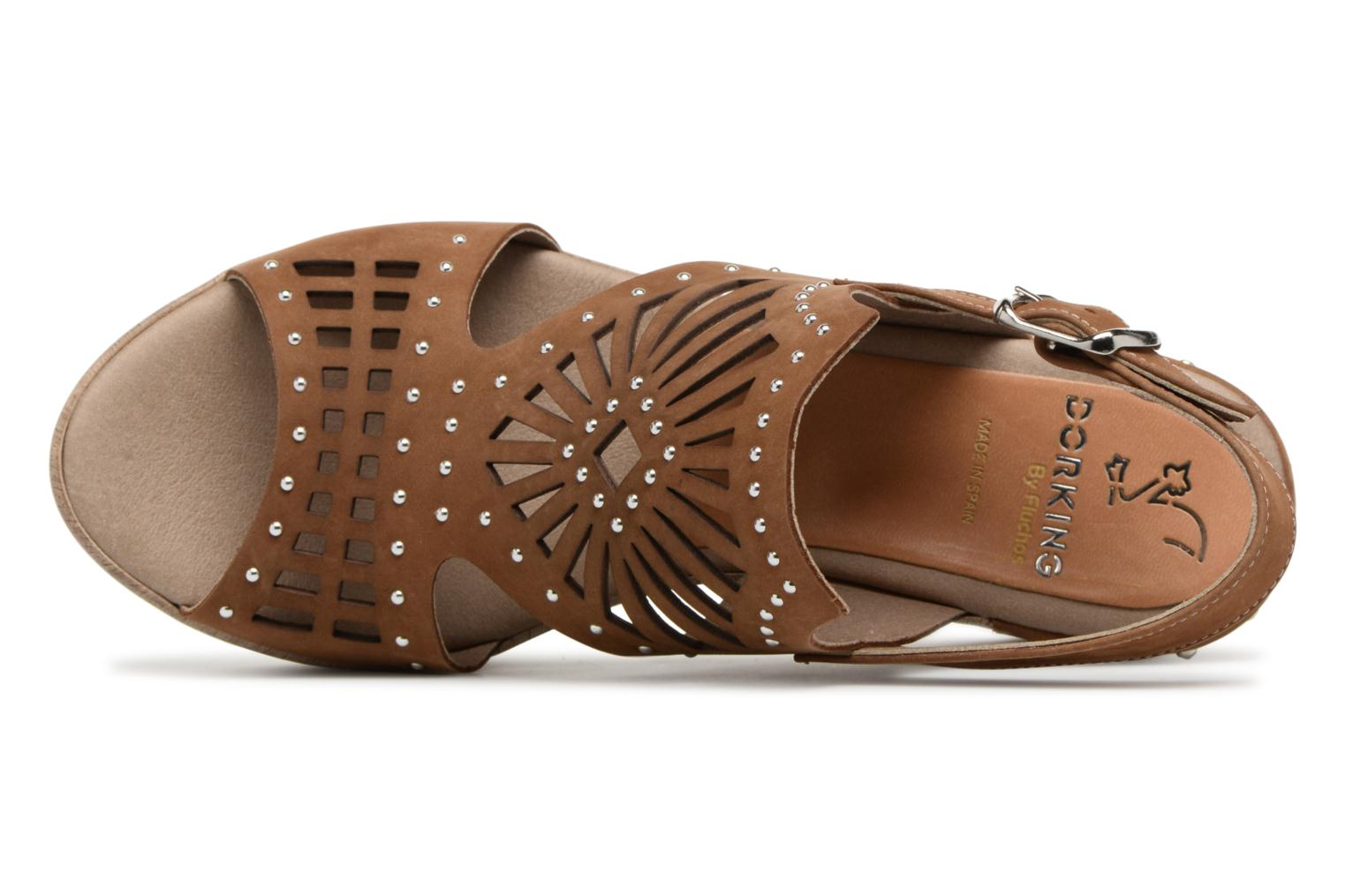 Sandals Dorking Salma 7487 Brown view from the left