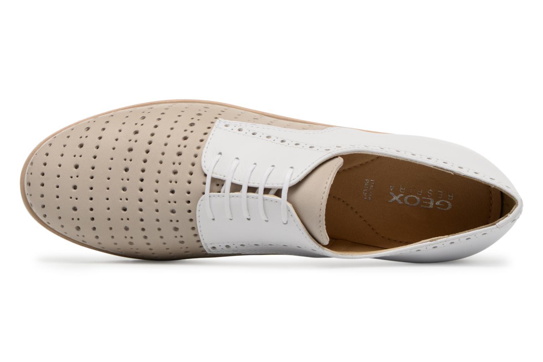 Chaussures à lacets Geox D KOOKEAN D D824PD Beige vue gauche