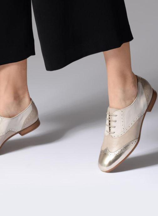 Chaussures à lacets Geox D MARLYNA C D828PC Beige vue bas / vue portée sac
