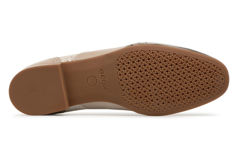 Chaussures à lacets Geox D MARLYNA C D828PC Beige vue haut
