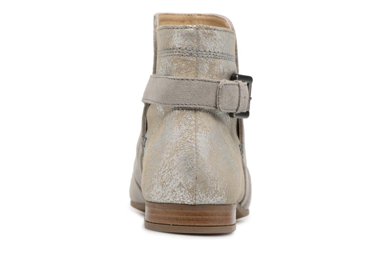 Bottines et boots Geox D MARLYNA G D828PG Gris vue droite