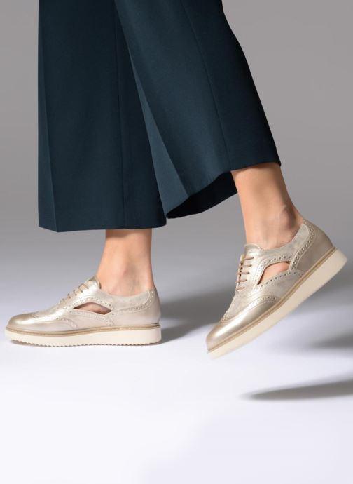 Chaussures à lacets Geox D THYMAR A D824BA Or et bronze vue bas / vue portée sac