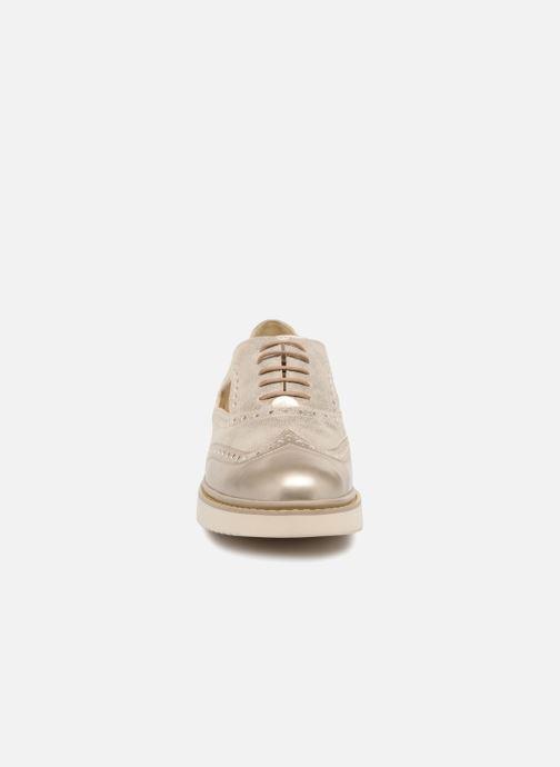 Chaussures à lacets Geox D THYMAR A D824BA Or et bronze vue portées chaussures
