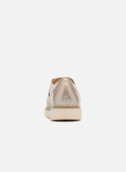 Chaussures à lacets Geox D THYMAR A D824BA Or et bronze vue droite