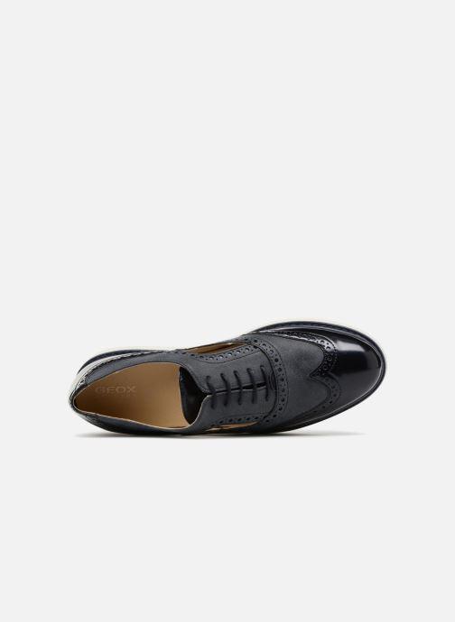 Zapatos con cordones Geox D THYMAR A D824BA Azul vista lateral izquierda
