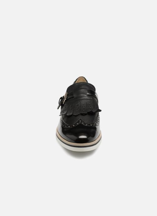 Slipper Geox D JANALEE BD825AB schwarz schuhe getragen