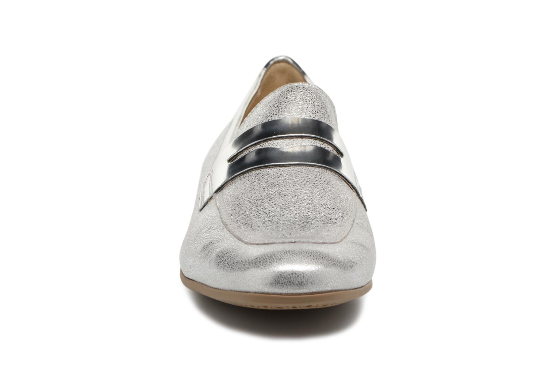 Mocassins Geox D MARLYNA BD828PB Argent vue portées chaussures