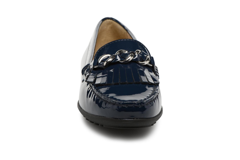 Mocassins Geox D ELIDIA A D822TA Bleu vue portées chaussures
