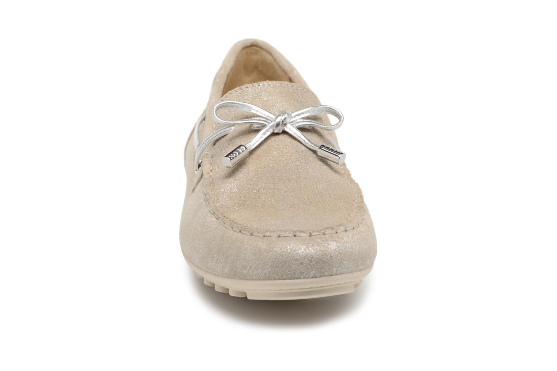 Mocassins Geox D LEELYAN A D724RA Argent vue portées chaussures