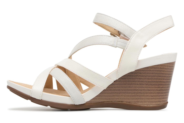 Sandales et nu-pieds Geox D DOROTHA C D828TC Blanc vue face