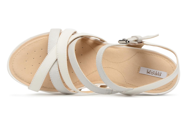 Sandales et nu-pieds Geox D DOROTHA C D828TC Blanc vue gauche
