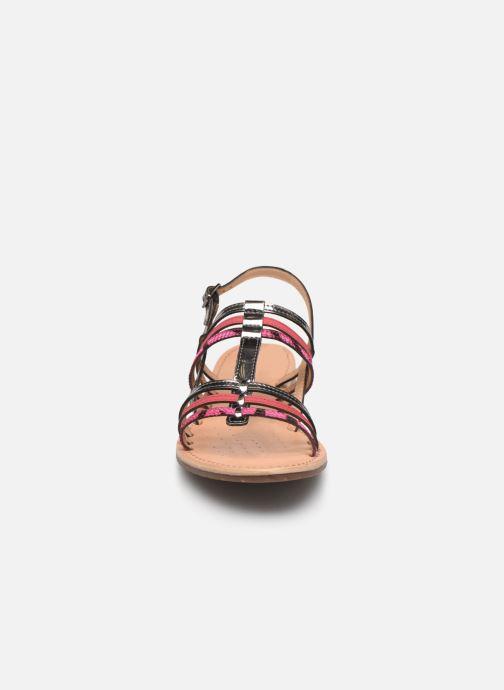 Sandales et nu-pieds Geox D SOZY H D822CH Rose vue portées chaussures