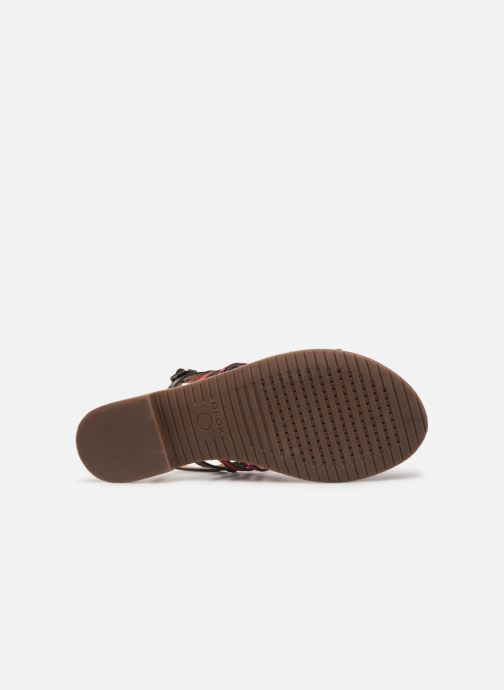 Sandales et nu-pieds Geox D SOZY H D822CH Rose vue haut