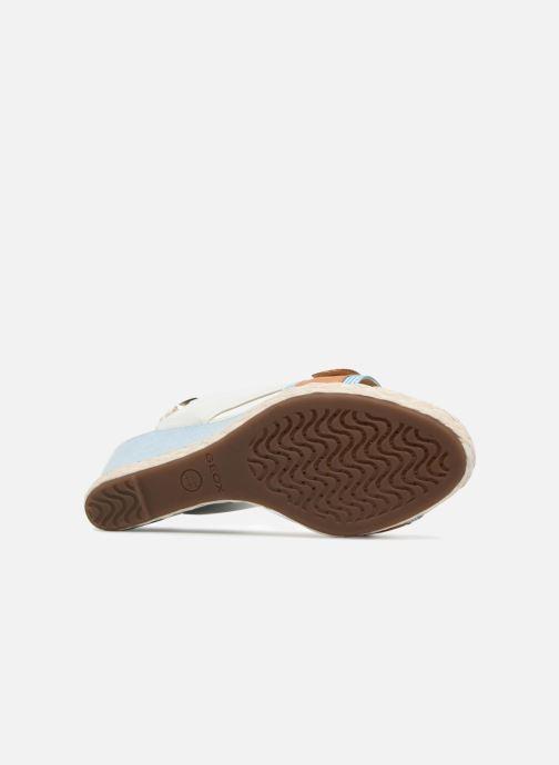 Sandales et nu-pieds Geox D JANIRA E D82P6E Blanc vue haut
