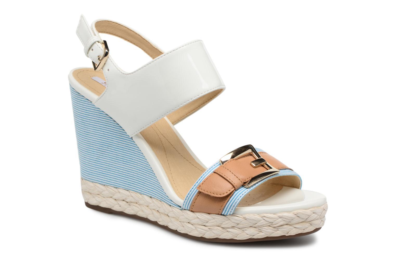 Sandales et nu-pieds Geox D JANIRA E D82P6E Blanc vue détail/paire