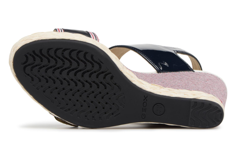 Sandales et nu-pieds Geox D JANIRA E D82P6E Bleu vue haut