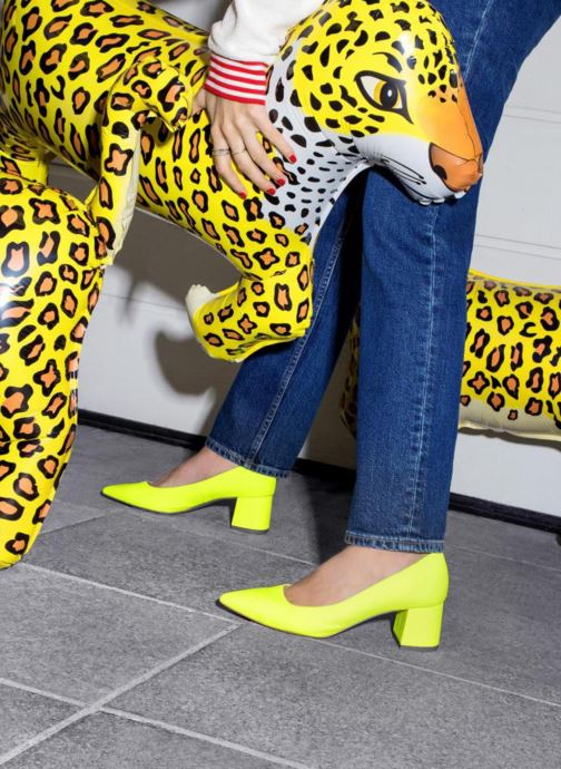 High heels Made by SARENZA Pastel Affair Escarpins #9 Yellow view from underneath / model view