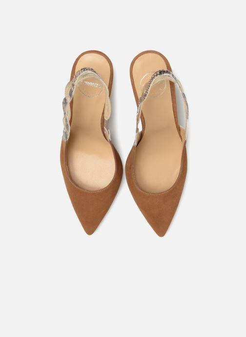 High heels Made by SARENZA Carioca Crew Escarpins #6 Brown model view